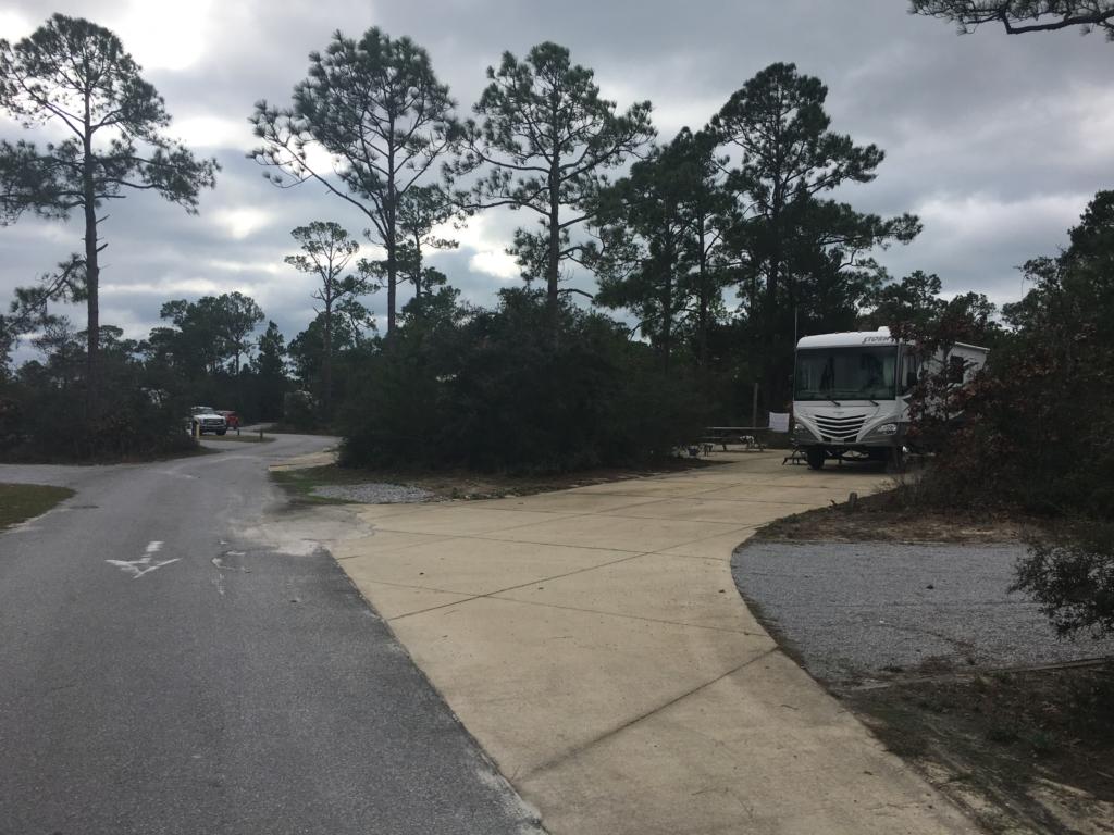 Campsites at Grayton Beach State Park