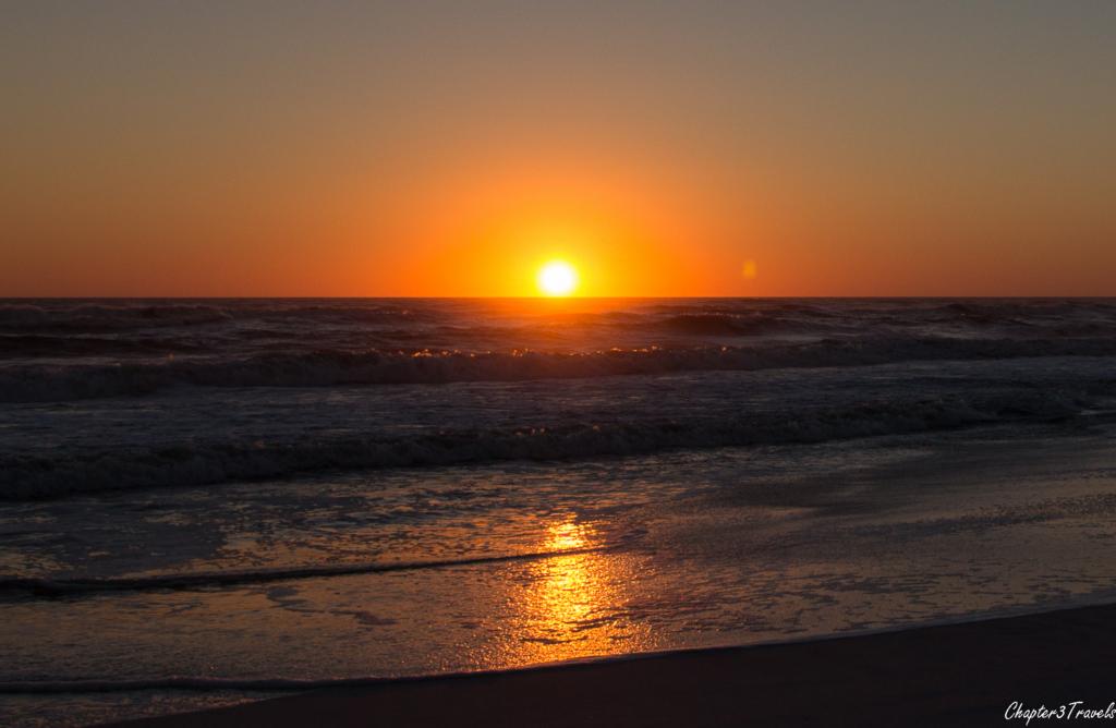 Sunset over the ocean at Grayton Beach