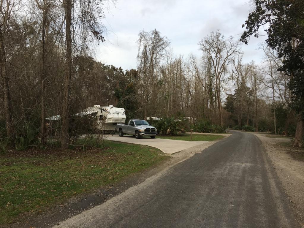 Palmetto Island State Park campground