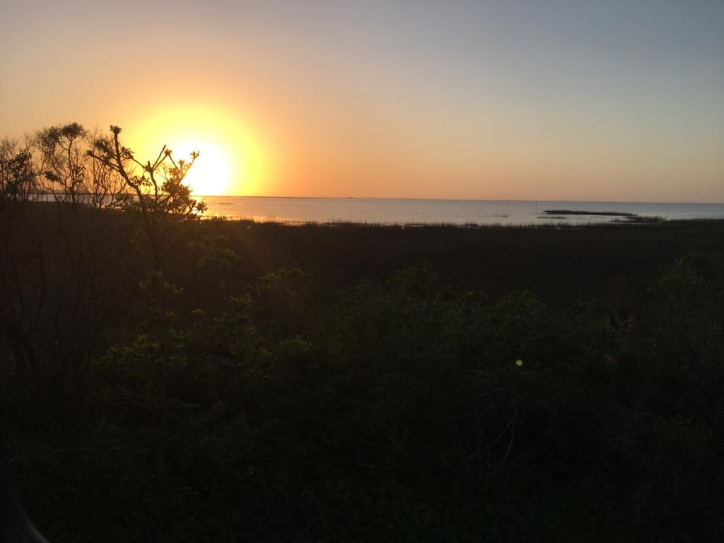 Sunset over Galveston Island