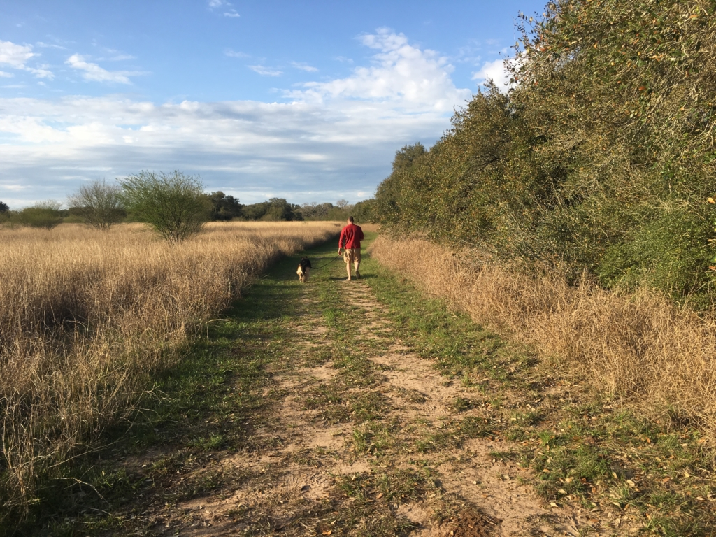 Waking trail at Thousand Trails in Columbus, Texas