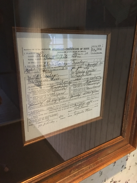 Elvis's birth certificate