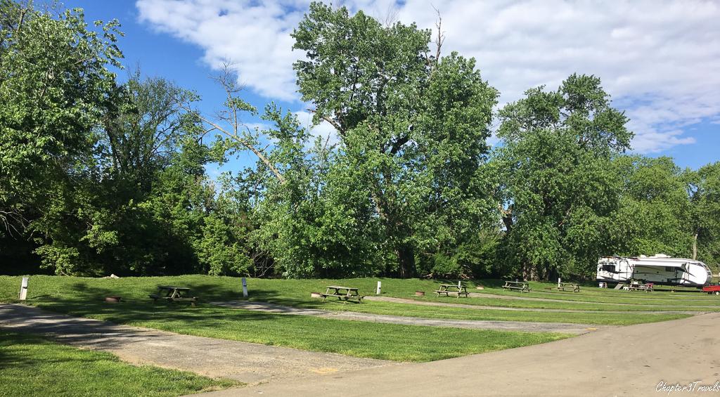 Campsites at Elkhorn Campground in Lexington, Kentucky