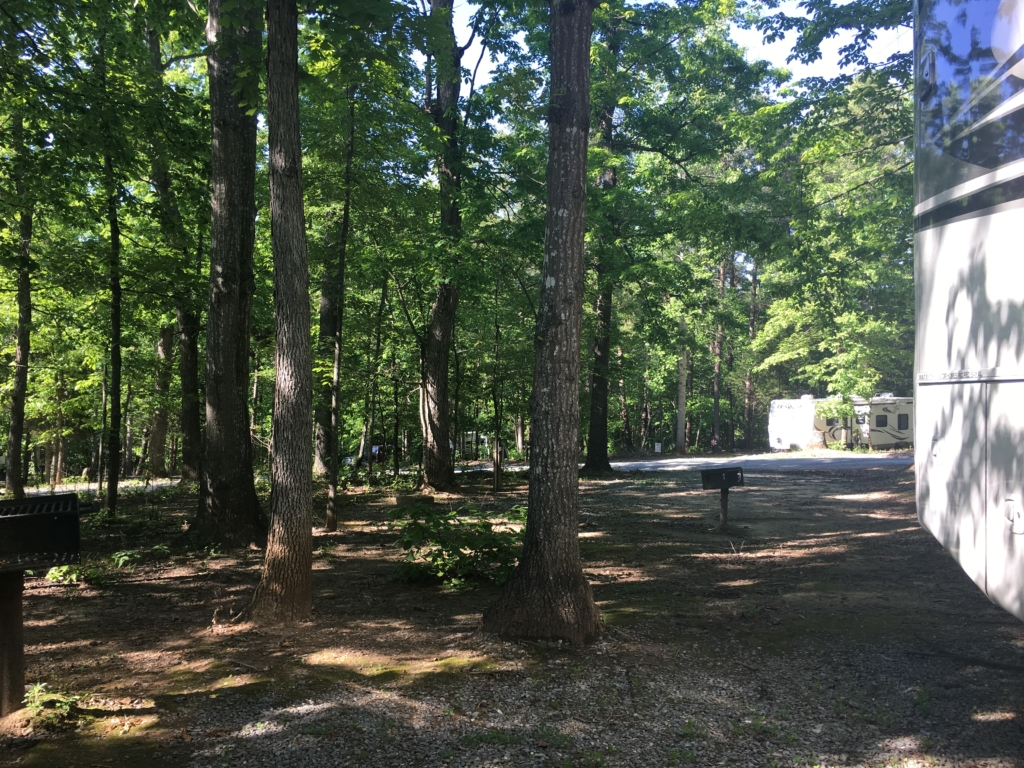 Campsite at Thousand Trails, Lynchburg, Virginia