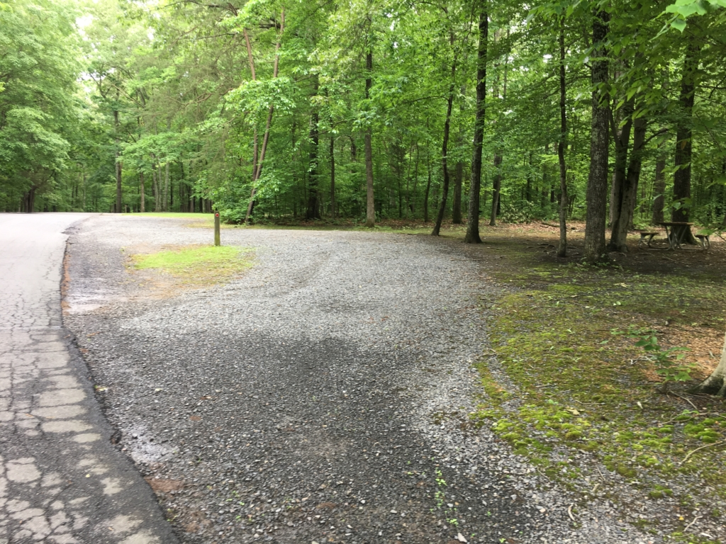 Campsites at Bull Run Regional Park