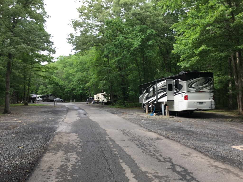 Campsites at Bull Run Regional Park