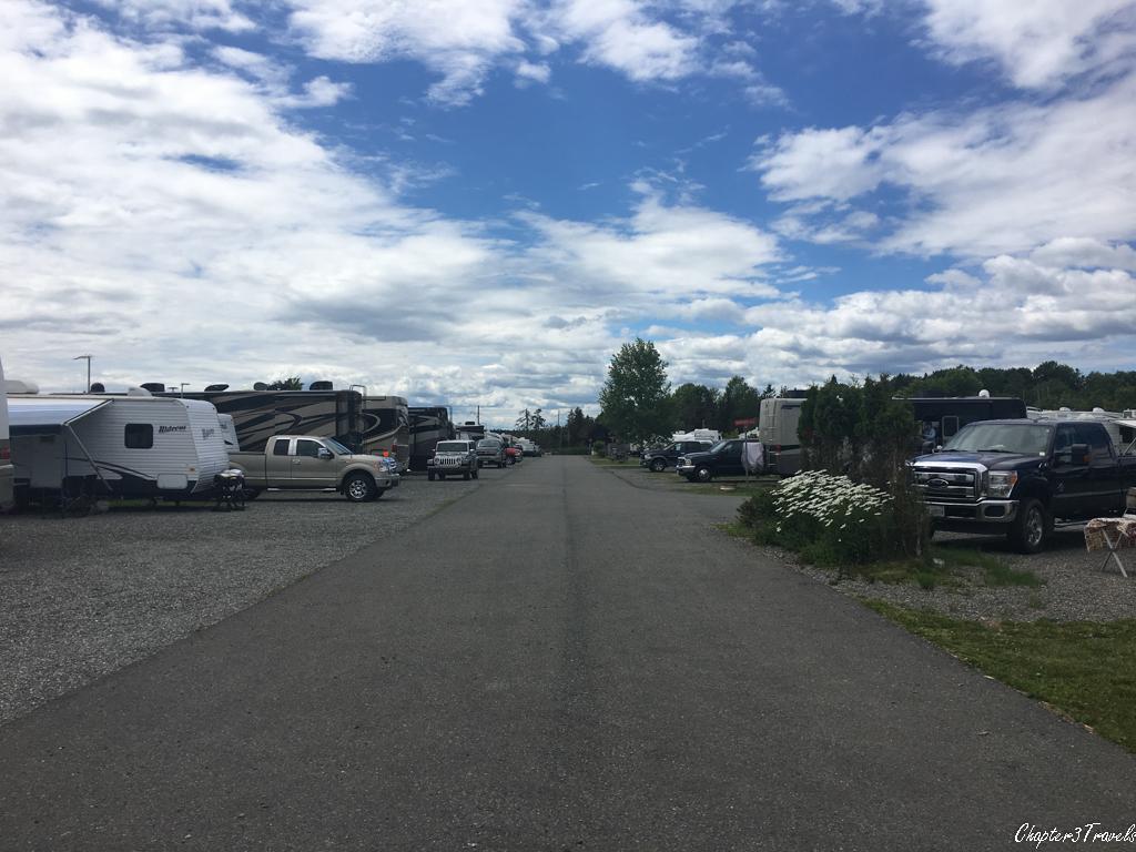 Row of campsites at Kiwanis Oceanfront Camping