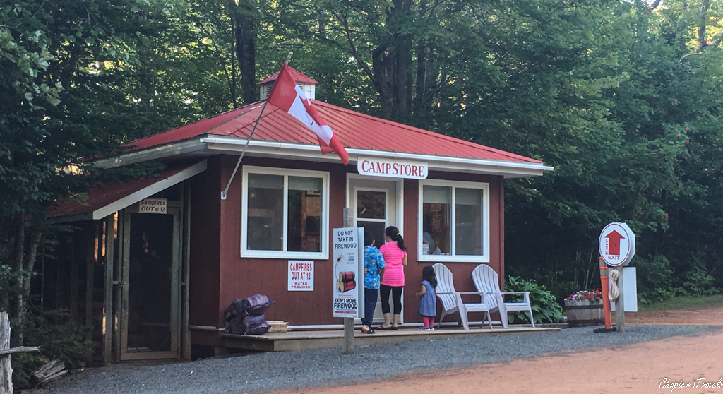 Camp store building at New Glasgow Highlands Campground in Prince Edward Island