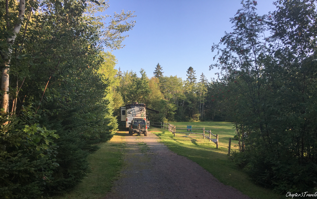 Site 18A at New Glasgow Highlands Campground in Prince Edward Island