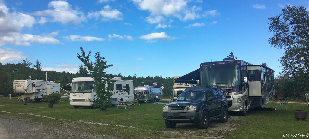 "Campsites at Bras d""Or Lake Campground"