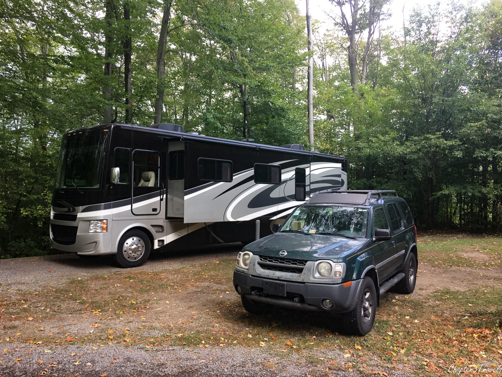 Campsite at Darien Lakes State Park in New York
