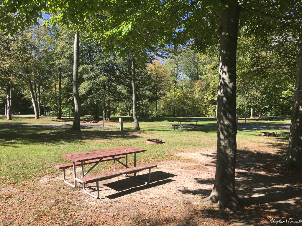 Campsites at Darien Lakes State Park in New York