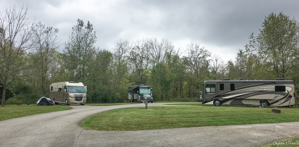 Campsites at Charlestown State Park in Charlestown Indiana