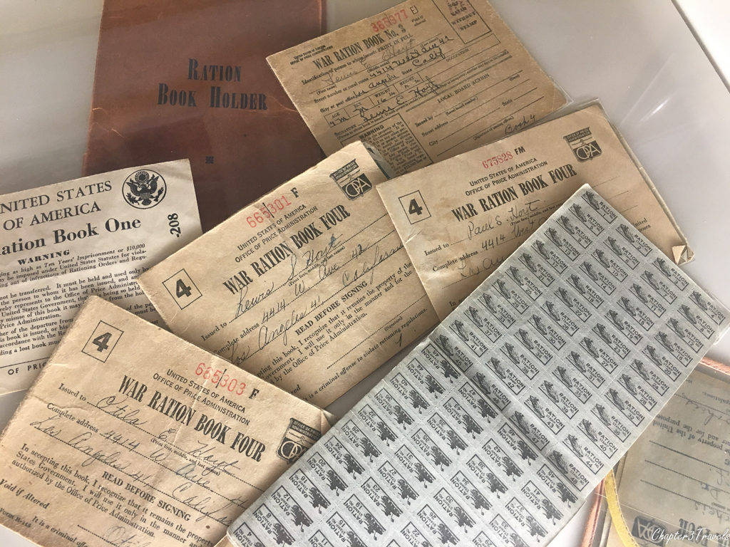 Rations books at the World War II Museum in New Orleans