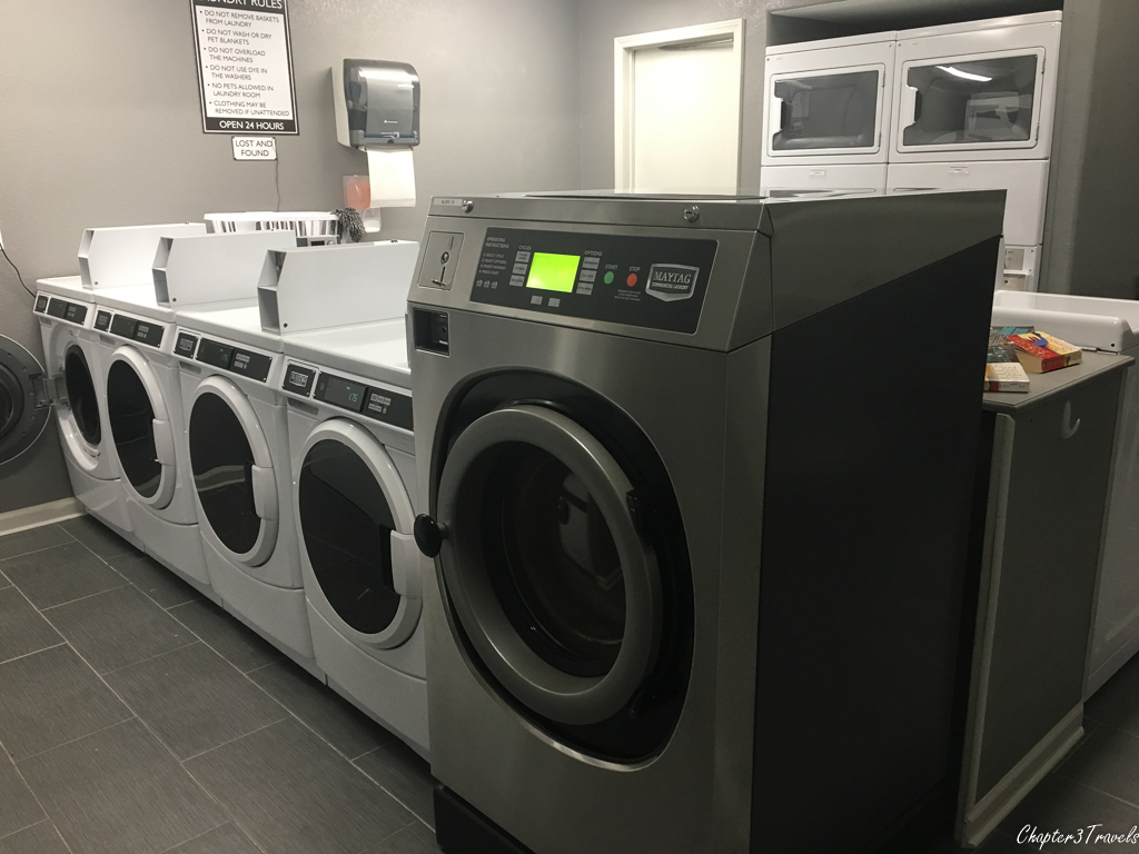 Laundry room at Austin Lone Star RV Park