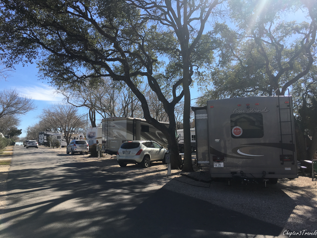 Campsites at Austin Lone Star RV Park in Austin, Texas