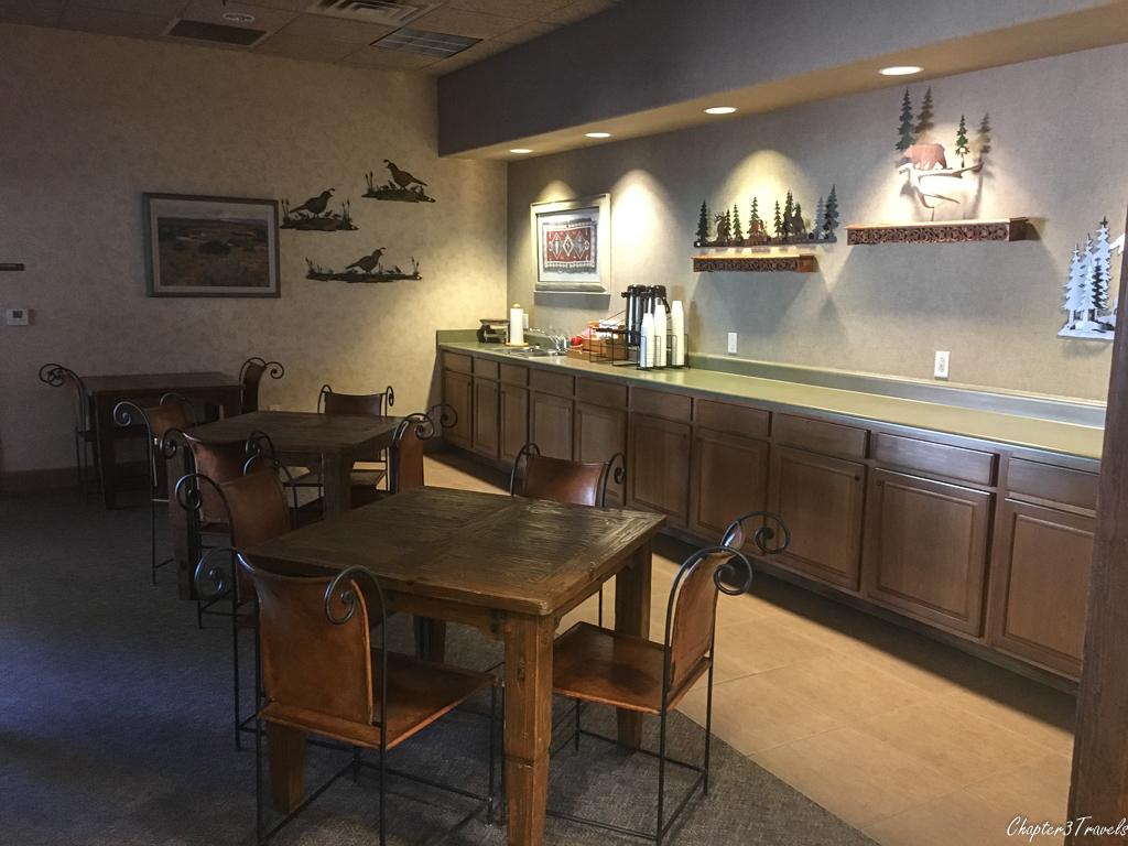 The coffee room at Hacienda RV Resort