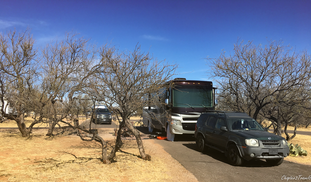 Campsite at Kartchner Caverns State Park in Benson, Arizona