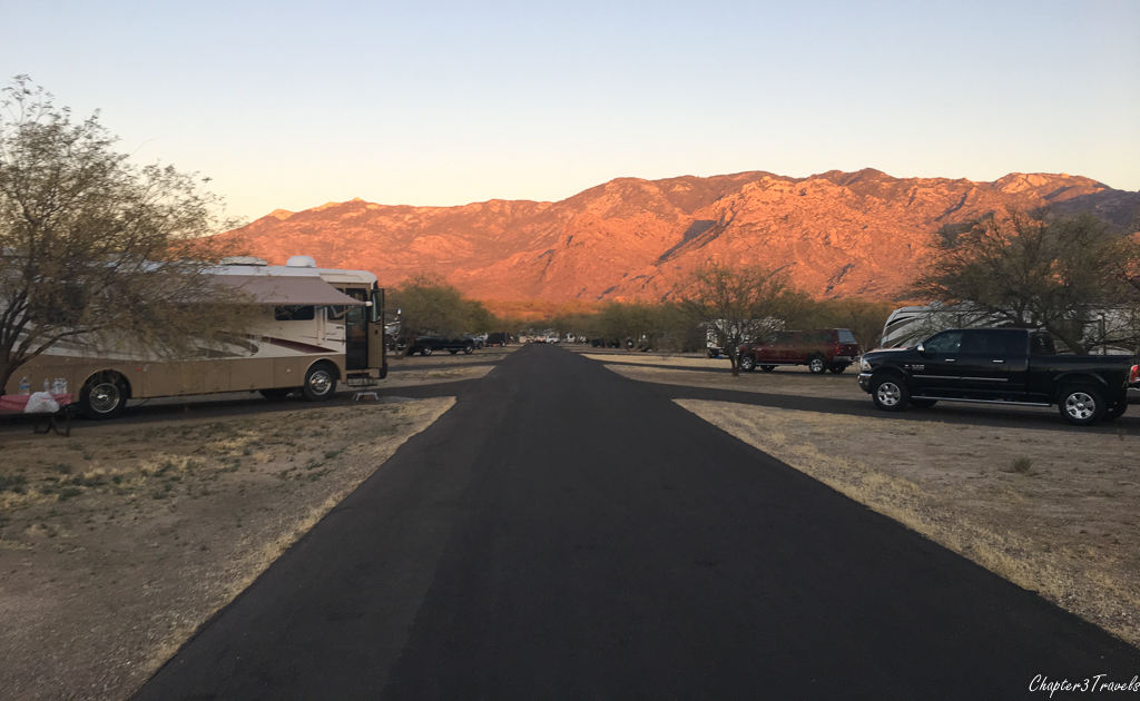 Campsites in B loop at Catalina State Park in Tucson, Arizona