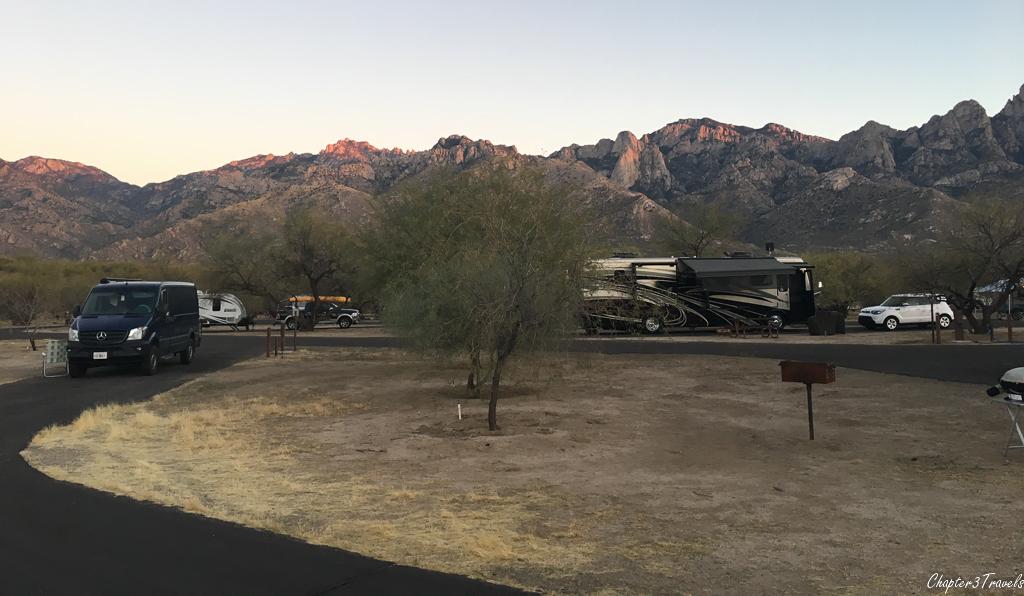 Campsites in loop B at Catalina State Park in Tucson, Arizona