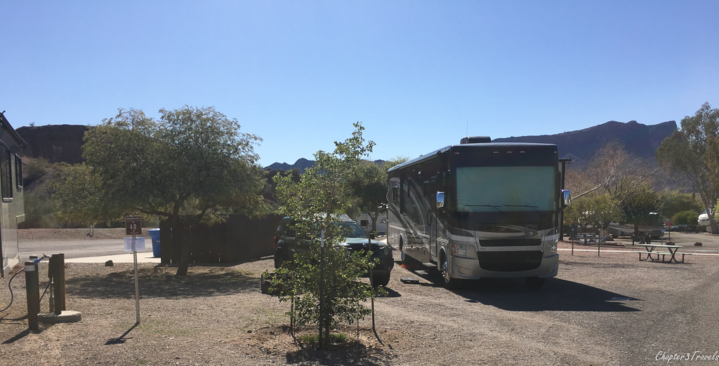 Cattail Cove State Park campground site #38