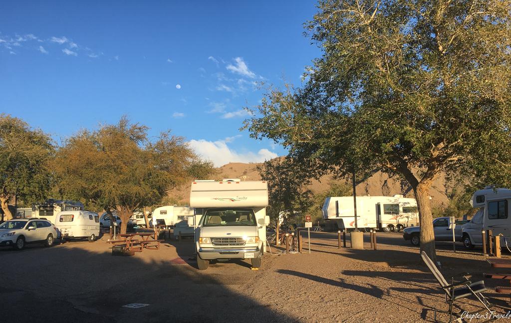 Cattail Cove State Park campsites