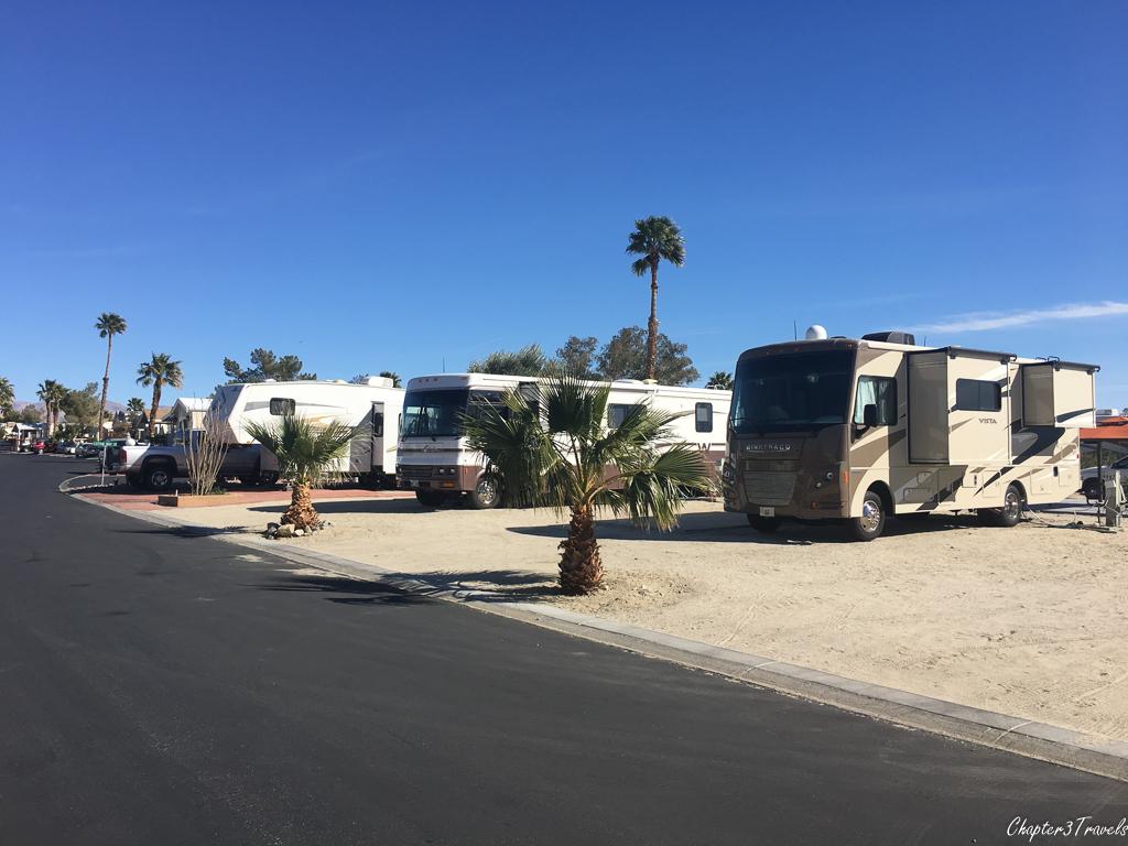 RV sites at Sky Valley Resort in Desert Hot Springs, California