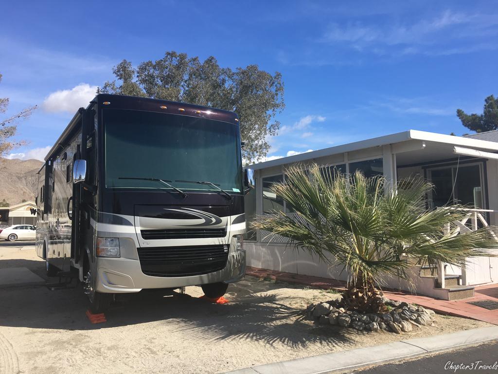 Campsite at Sky Valley Resort in Desert Hot Springs, California