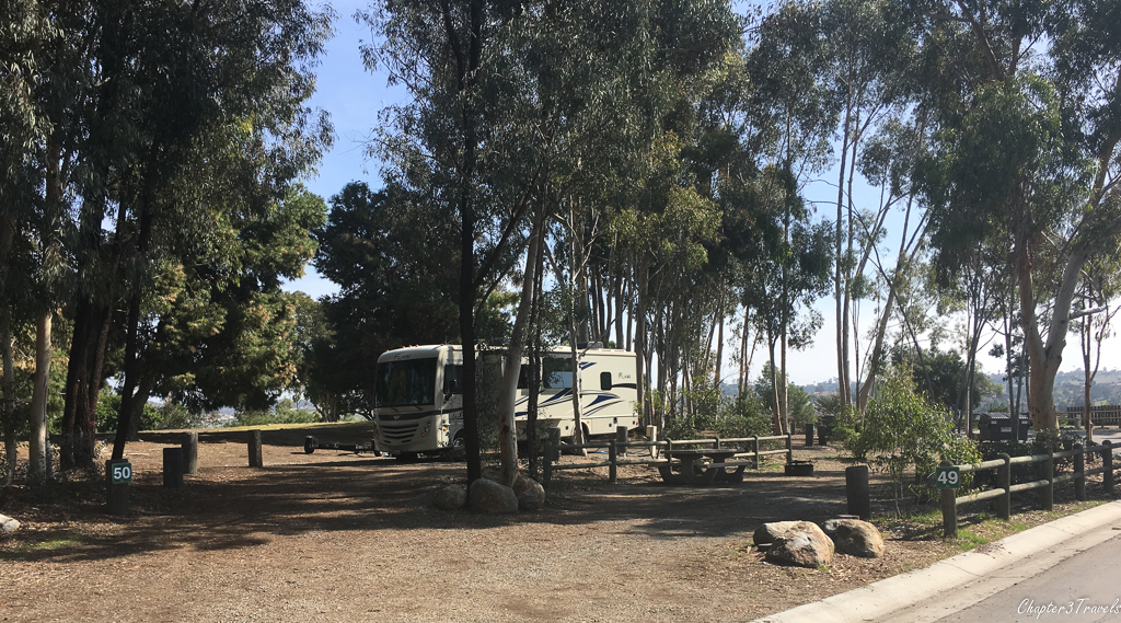 Campsite in south loop of Sweetwater Summit Regional Park