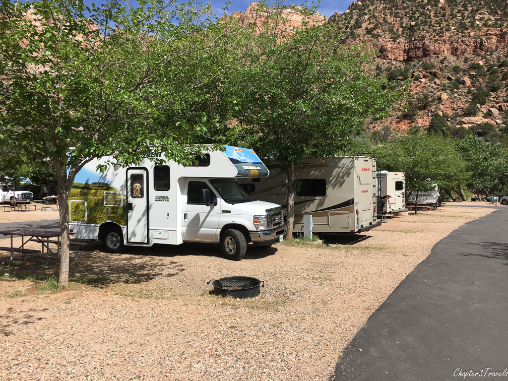 Campsites at Zion Canyon Campground, Springdale, Utah