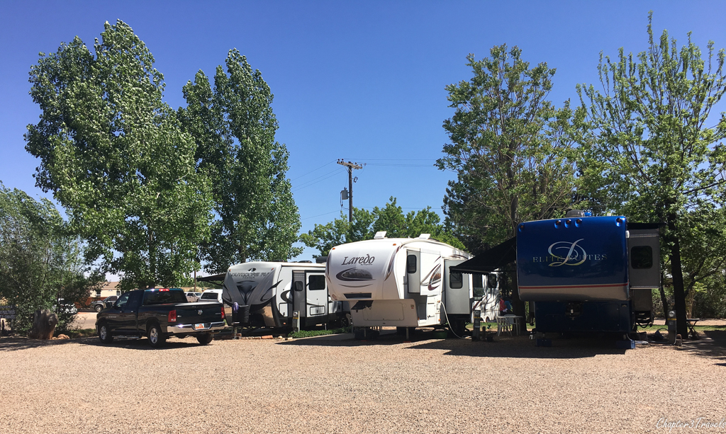 Campsites at Hitch-N-Post RV Park in Kanab, Utah