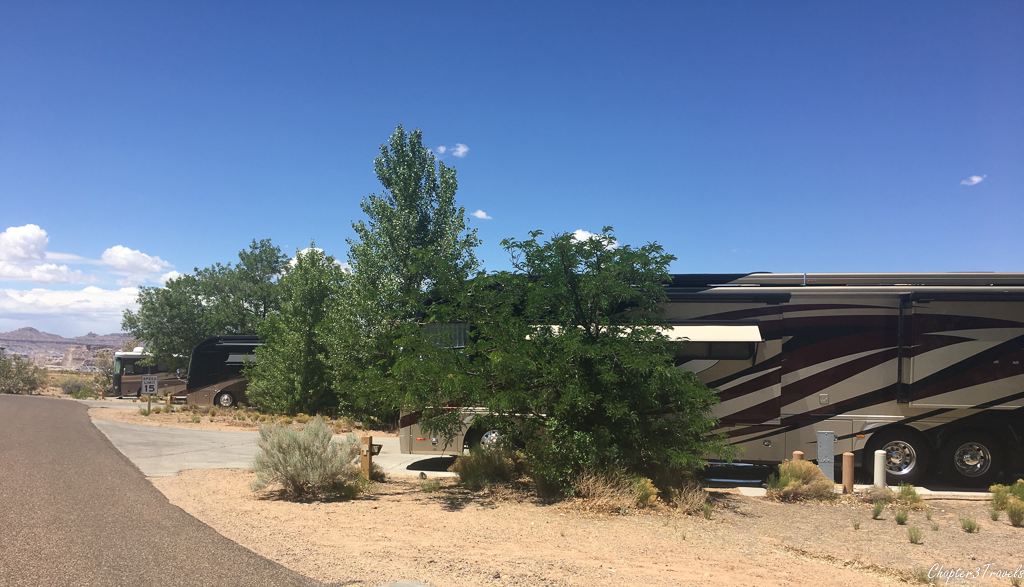 Campsites at Wahweap Campground in Page, Arizona