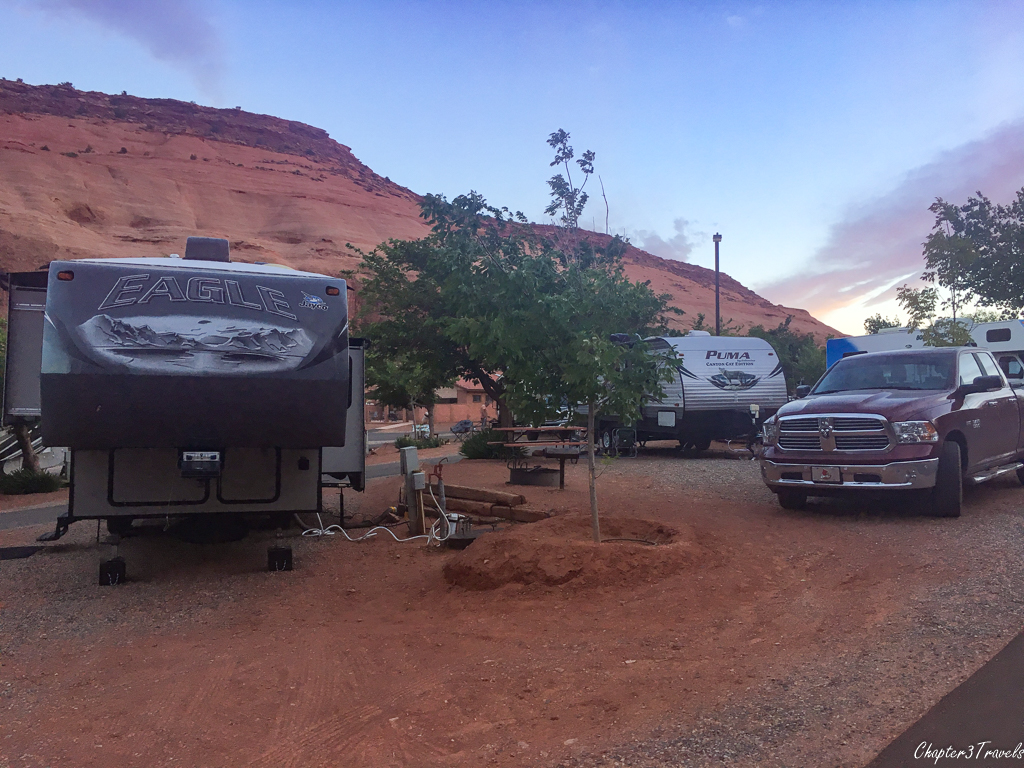 Campsites at Goulding's Campground in Monument Valley