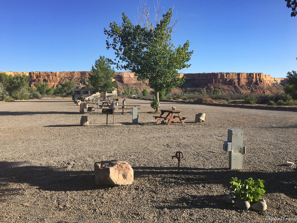 Campsites at Cadillac Ranch RV Park in Bluff, Utah