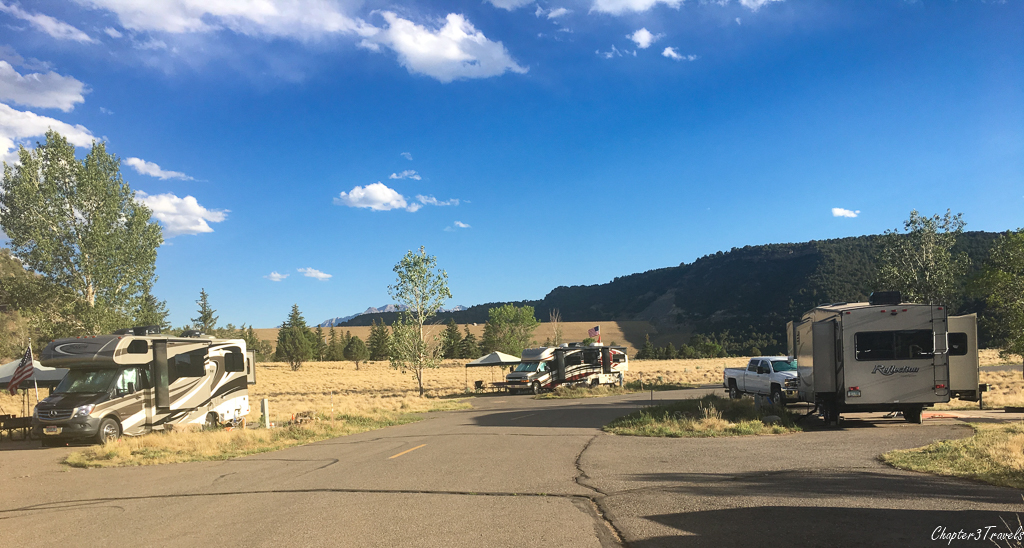 Campsites at Ridgway State Park, Ridgway, Colorado