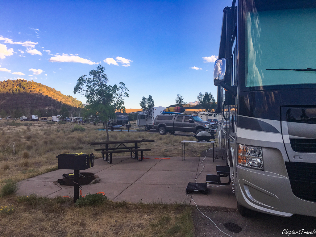 Campsite at Ridgway State Park, Ridgway, Colorado