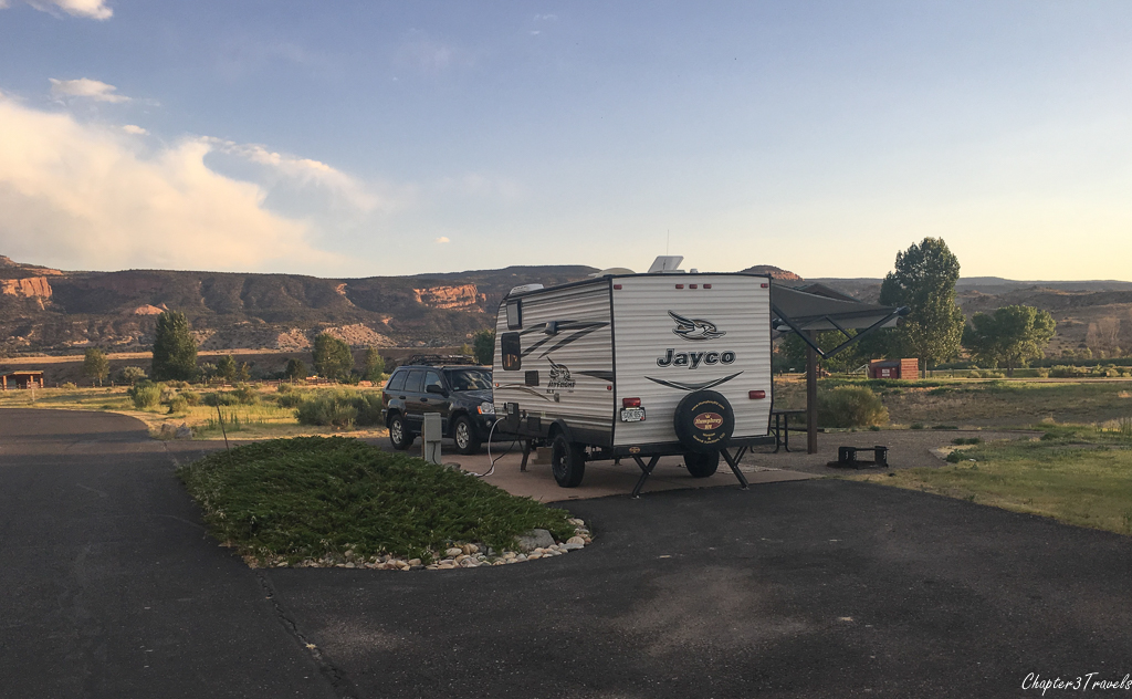 Campsites at James Robb State Park - Fruita Section