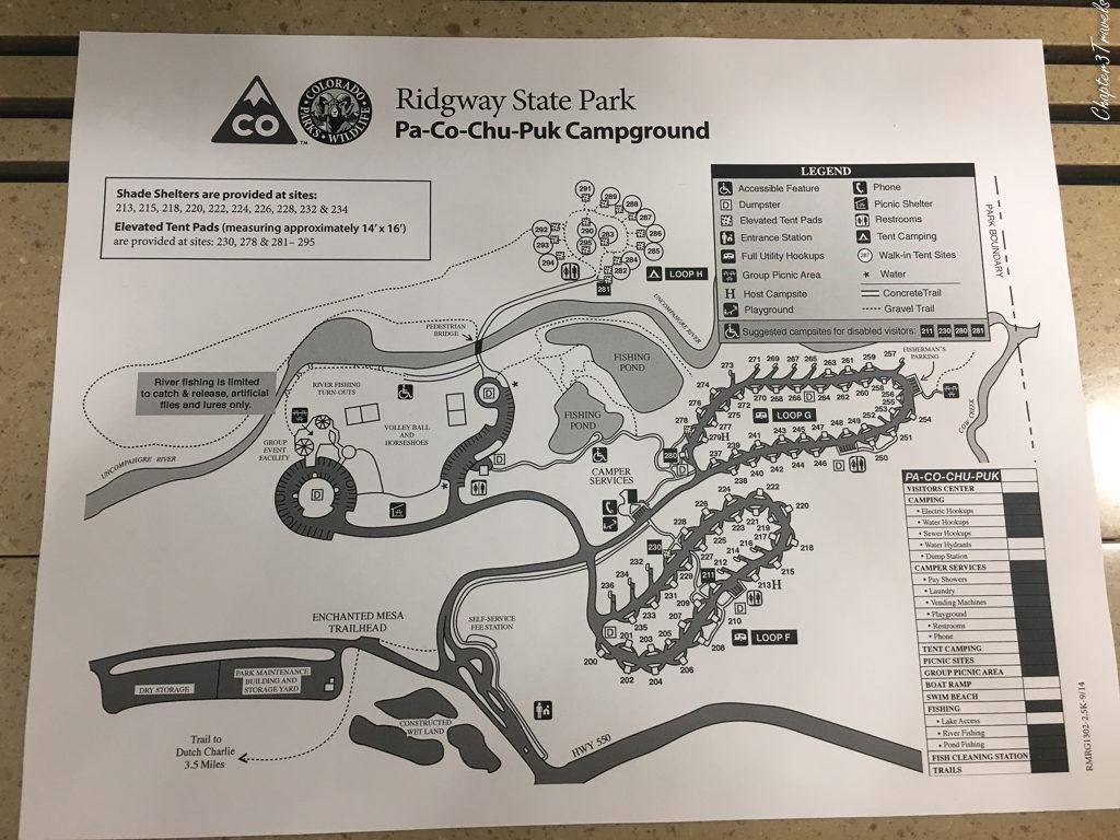 Ridgeway State Park campground map