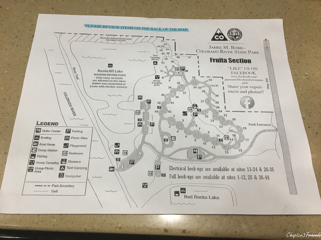 James Robb State Park campground map
