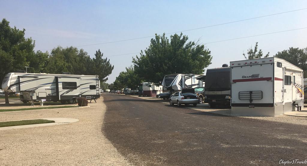 Campsites at Boise Riverside RV Park