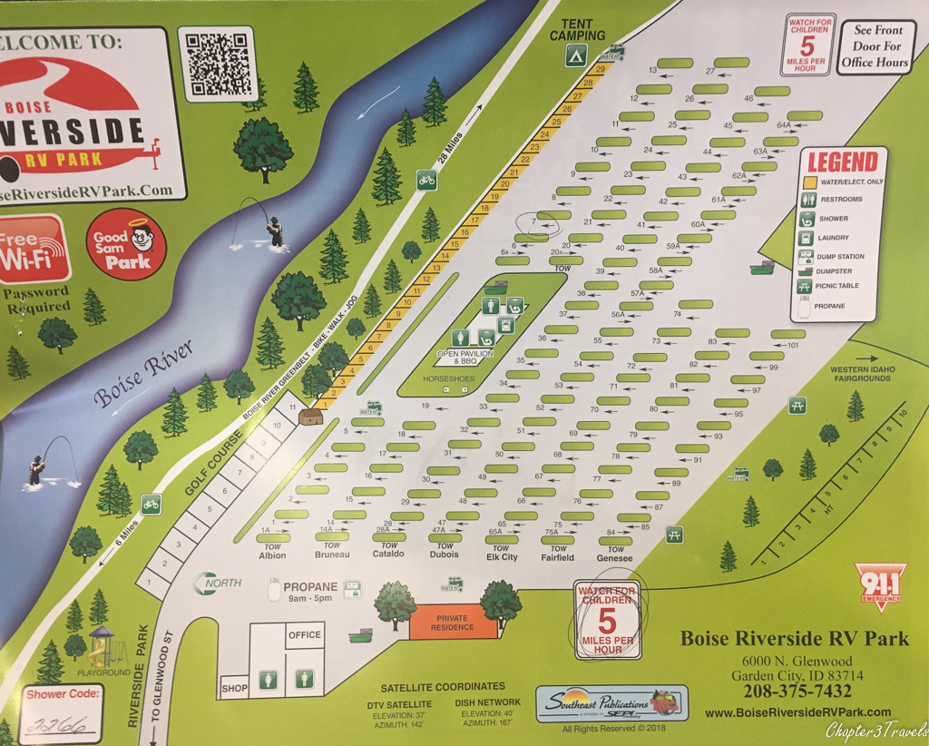 Map of Boise Riverside RV Park