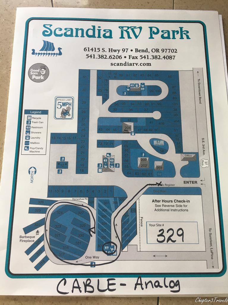 Scandia RV Park map