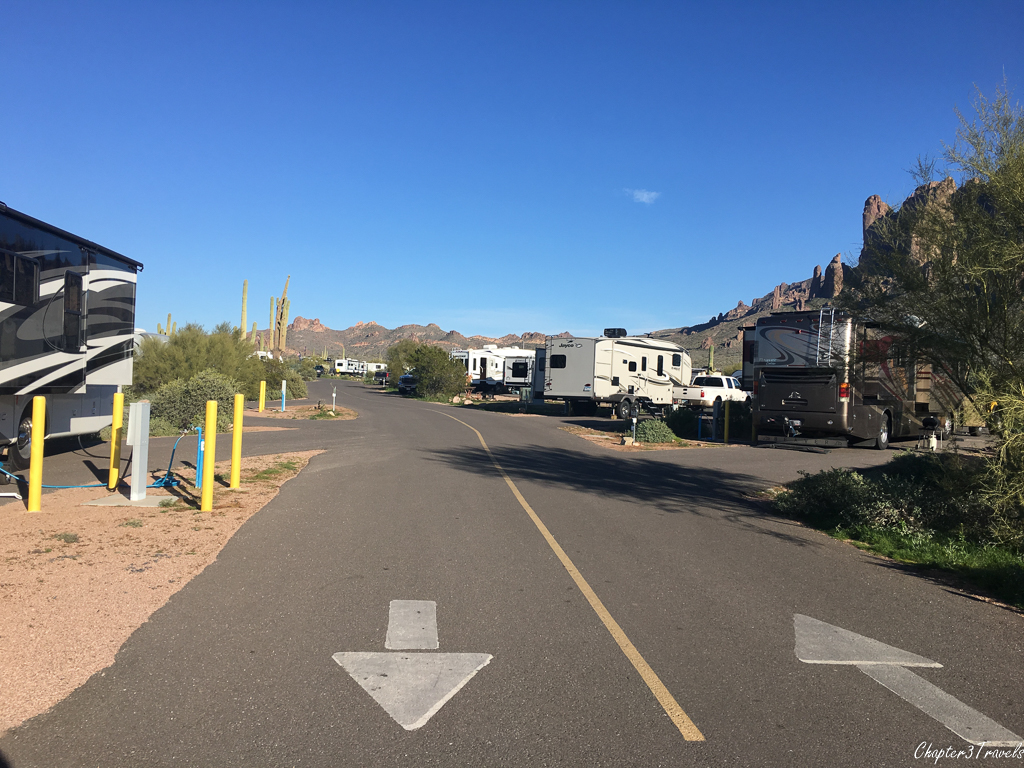 Campsites in new loop at at Lost Dutchman State Park