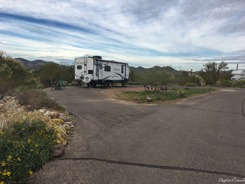 Campsites at Lost Dutchman State Park