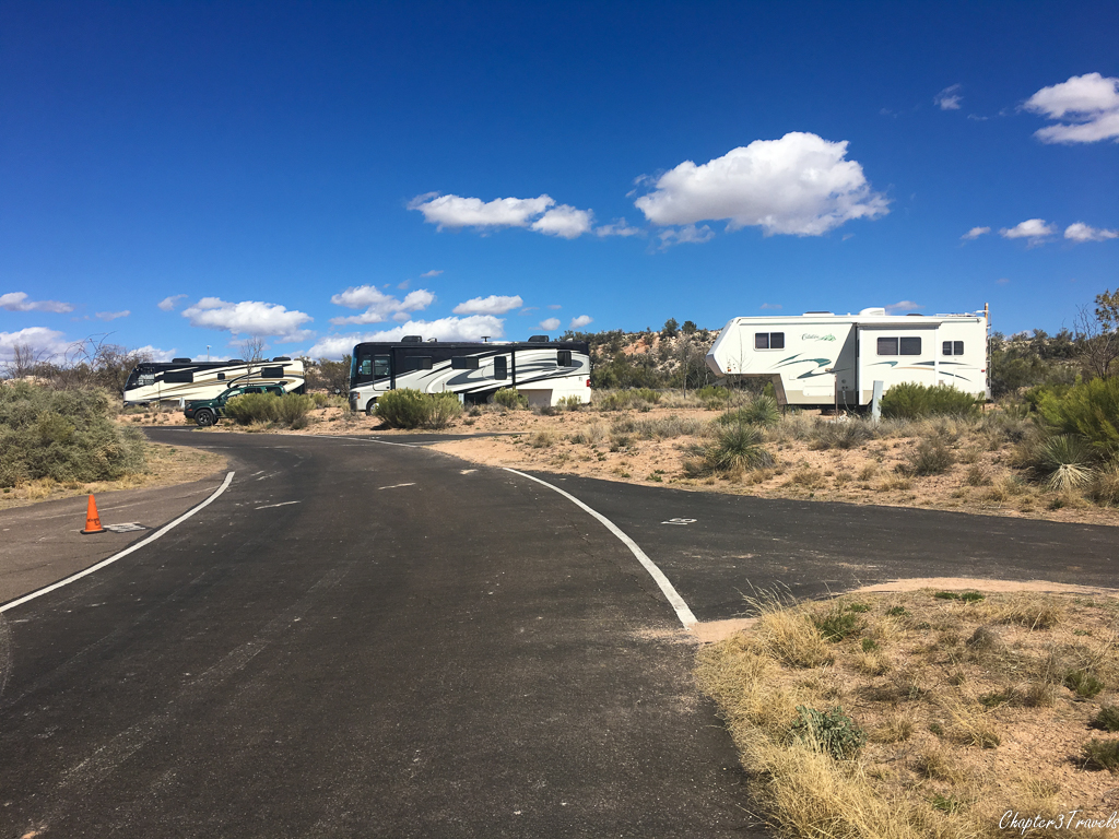 Campsites at Dead Horse Ranch State Park in Cottonwood, Arizona