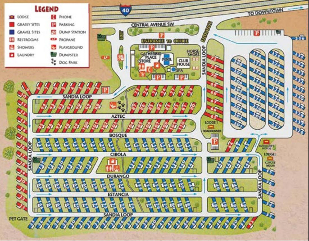 American RV Resort campground map