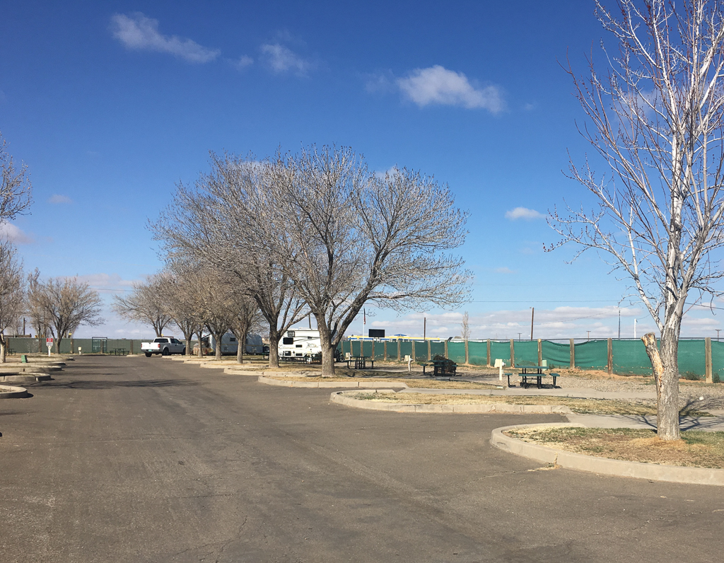 Campsites at American RV Resort in Albuquerque, NM