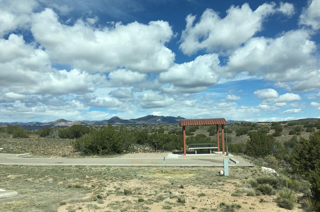 Campsite at Cochiti Campground in Pena Blanca, New Mexico