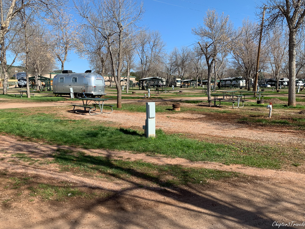 Campsites at Happy Holiday RV Resort in Rapid City, South Dakota