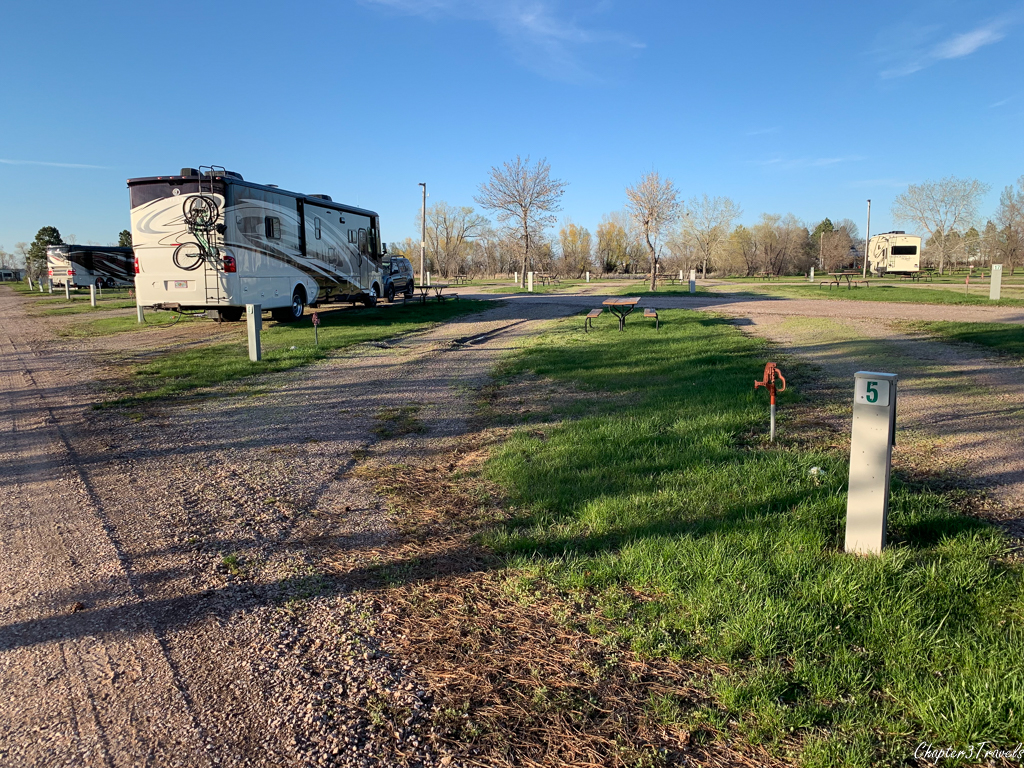 Campsites at Sleepy Hollow RV Park in Wall, South Dakota